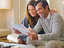 Couple reviewing successful short sale